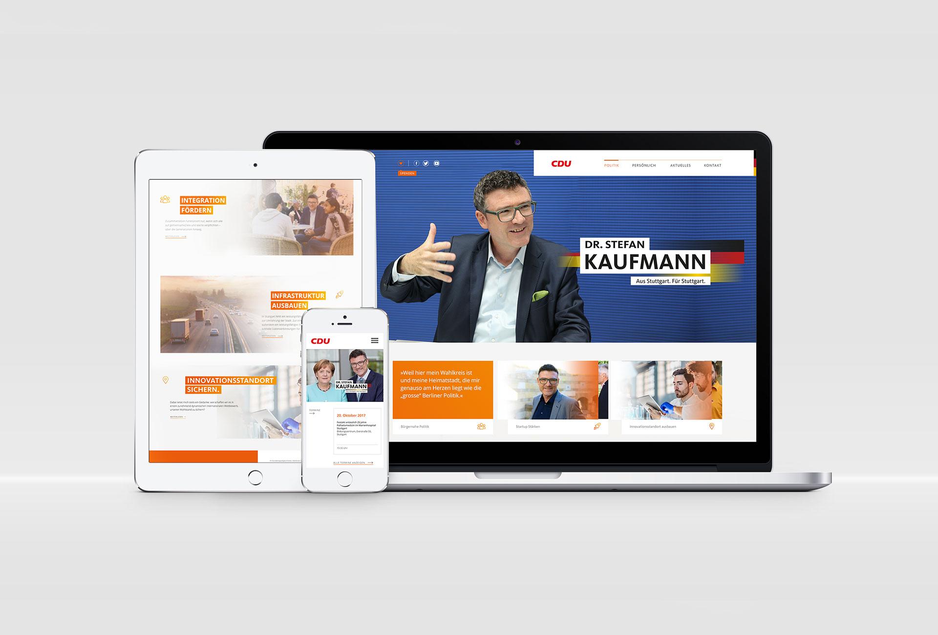 Projekt Stefan Kaufmann Bundestagswahl 2017